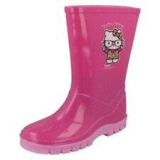Calzado de niña botas de agua rosas de sintético