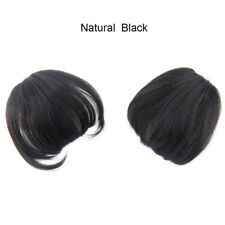 100% Real Remy Thick Human Hair Fringe Bangs Black Brown Clip in Hair Extensions