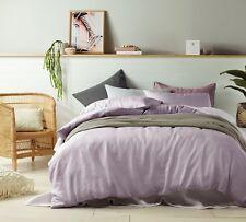 Queen Bed Quilt Cover Doona Set 100% Linen Mauve
