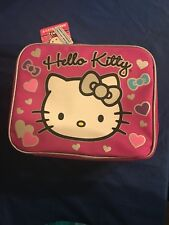 Girls Hello Kitty Zipper Lunch Box Soft New with Tags Pink