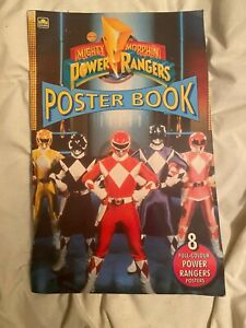 mighty morphin power rangers Poster Book Vintage Rare
