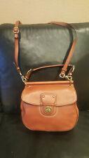 COACH WILLIS 70th Anniversary Brown Leather Cross-body Satchel Bag Purse 19132