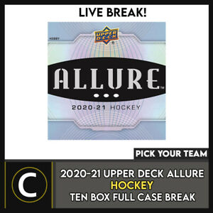 2020-21 UPPER DECK ALLURE 10 BOX (FULL CASE) BREAK #H1029 - PICK YOUR TEAM -