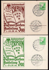 GERMANY FOUR PRIVATE PS STATIONERY POSTAL CARD 1938 EXPO PHILATELIC