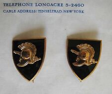 1 Pr Vintage/Antique UNUSED West Point Military Academy Black Pins