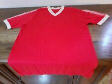 MAGLIA SHIRT VINTAGE '70 '80 FOOTBALL RED WHITE CALCIO BIANCO ROSSA N°6