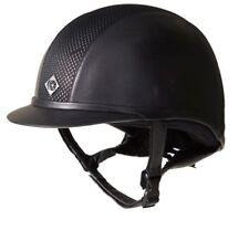 Charles Owen AYR8 Leather Riding Hat Helmet black/silver PAS015:2011 59cm 7 1/4
