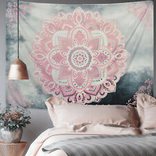Mandala Tapestry Art Wall Hanging Pink Flower Indian Tapestry Home Dorm Decor