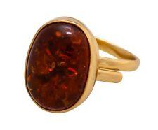 Charles Albert Meta Midi Ring Amber Adjustable Alchemia Gold