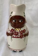 Erwin Pottery Dutch Girl Pitcher Black