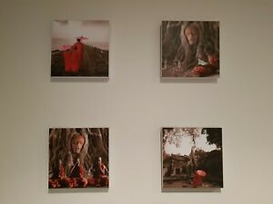 Buddhist monk buddha spiritual art artwork print on canvas set of 4