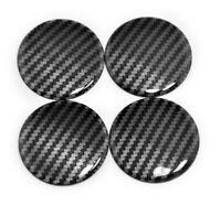 NEW 4Pcs 45mm Car Wheel Center Cap Style Carbon Fiber Cover Sticker