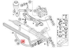 Genuine BMW E46 Cabrio Power Steering Radiator Return Hose OEM 32416759633