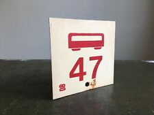 More details for authentic european double-sided train no.47 + no.257 laminated plastic sign