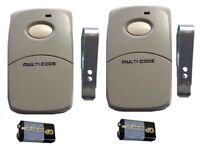Multi Code Gate Opener Garage Remote Control Clicker Transmitter 300 Mhz 308911