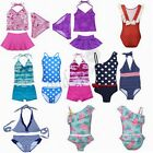 Girl Swimwear Tankini Set Bikini Swimsuit Skirt Bathing Suit Beachwear Baby 1-14