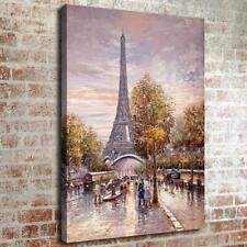 "12""x16"" Abstract Paris Eiffel Tower HD Canvas print Home decor Wall Art Painting"