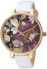 Ted Baker Women's 'KATE' Floral Dial Leather Strap Watch TE10031547 RRP £135