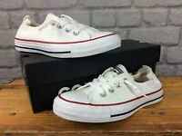 CONVERSE LADIES UK 4.5 EU 37 CHUCK TAYLOR SHORELINE SLIP ON WHITE TRAINERS AD