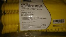100 Disposable Dental Dual Arch Fluoride Trays small yellow Foam Geal Fluoride