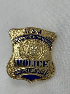 Obsolete - Vintage Federal Protective Service mini badge pin - GSA last crest