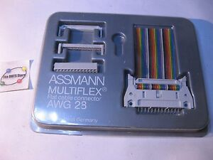 ASSMANN AWG28 Flat Cable Connector Sample Card Trade-Show Swag Used Qty 1