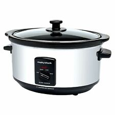Morphy Richards Oval Slow Cooker Cooking Pot 3.5 Litre In Stainless Steel 48710A