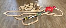 Circo Train set Wooden Train lot track bridge tunnel engine compatible thomas