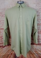 Chaps Ralph Lauren 16 1/2 32/33 Light Green Dress Shirt Light-Weight Long Sleeve
