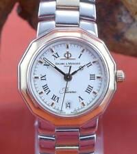 ORIGINALE Baume Mercier Riviera orologio da donna in acciaio inox giallo