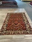 On Sale Beautiful Genuine Vintage Hand Knotted Garden Area Rug Carpet 5x7#2059