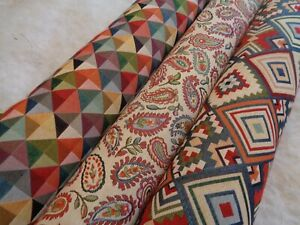 BEAUTIFUL VIBRANT NEW WORLD TAPESTRY FABRIC NEW MODERN DESIGNS BY THE METRE.