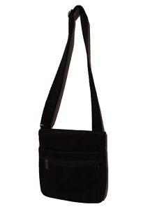 """Thirty One Crossbody Bag Purse Shoulder Canvas Black 11"""" x11"""" NWT"""