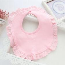 Cute Newborn Feeding Bibs Lace Drool Bib Triangle Bandana Easily Wipes Clean N7