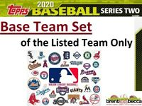 NEW YORK YANKEES 2020 Topps Series 2 BASE TEAM SET (13 Cards) Cole-Andujar+++