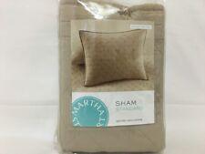 MARTHA STEWART - Basket Stitch Tan Quilted Standard Pillowsham