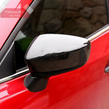 New Carbon Fiber Look Door Side Mirror Cover For Mazda 3 2014 2015 2016 AXE