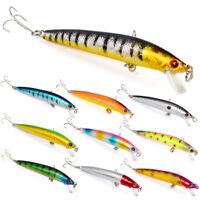 New 10PCS Fishing Lures Fish Crankbaits Bass Baits Minnow Swimbait Tackle Hook