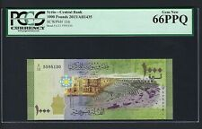 Syria 1000 Pounds 2013 P116 Uncirculated Grade 66