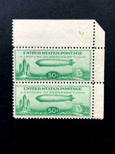 U.S. #C18 VF NH Graf Zeppelin  PAIR!      Catalog $150.00++