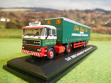 OXFORD ATLAS EDDIE STOBART 1985 DAF 2800 TWIN AXLE CURTAINSIDER 1/76