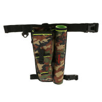 Multifunction Fishing Lure Bag Rod Holder Waist Pack Leg Bag Tackle Bag Camo