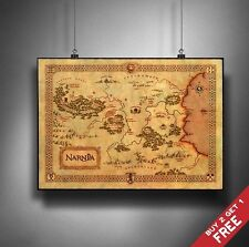 A3 THE CHRONICLES OF NARNIA MAP Poster Print Home Art Deco Gift Idea 4 Fans