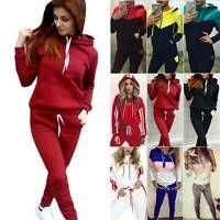 Women Tracksuit Hoodie Hooded Sweatshirt Tops Jogger Pants Sport Suit Trousers