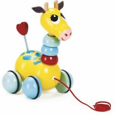 Flip Flap la girafe - jouet en bois à tirer - Vilac