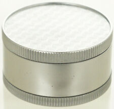 """1.9"""" Aluminum Grinder 3 PC Tobacco Herb Spice Grinder Square Graphic Silver"""