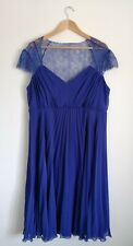 ASOS MATERNITY blue lace formal dress wedding party prom SIZE 18