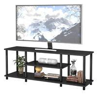"3-Tier TV Stand Entertainment Media Center Console Shelf  for TV's 50"" Black"