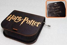 It's LeviOsa, Not LeviosA - Harry Potter Music Box - Hand Crank Engraved Wooden