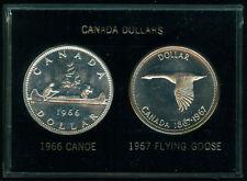 CANADA 1966 CANOE & 1967 GOOSE DOLLARS UNCIRCULATED SET